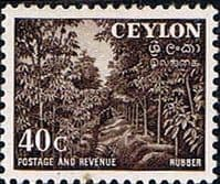 Ceylon 1951 SG 425 Rubber Plantation Fine Mint