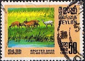 Ceylon 1970 Wild Life Conservation SG 563 Spotted Deer Fine Used