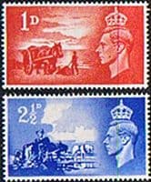 Channel Island Stamps Great Britain 1948 Anniversary of Liberation Set Fine Mint