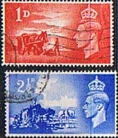 Channel Islands 1948 Anniversary of Liberation Set Fine Used