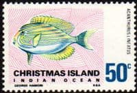 Christmas Island 1968 Fish SG 30 Fine Mint