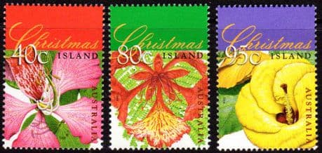 Christmas Island 1998 Flowering Trees Set Fine Mint