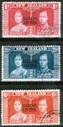 Cook Islands 1937 King George VI Coronation Set Fine Used