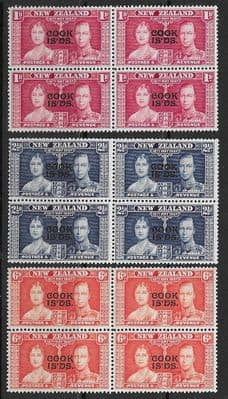 Cook Islands 1937 King George VI Coronation Stamps