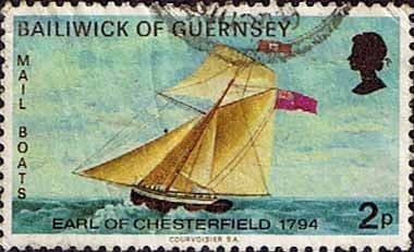 Postage Stamps Guernsey 1973 Mail Packet Boats SG 67 Earl of Chesterfield Fine Used SG 67 Scott 64