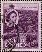 North Borneo 1954 SG 376 Queen Elizabeth II Fine Used
