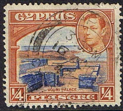 Postage Stamps Cyprus 1938 SG 151 Ruins of Vouni Palace Fine Used SG 151 Scott 143