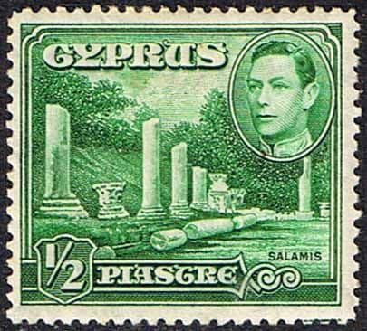 Cyprus 1938 SG 152 Salamis Small Marble Forum Fine Mint
