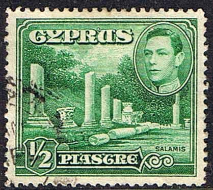 Postage Stamps Cyprus 1938 SG 152 Salamis Small Marble Forum Fine Used Scott 144