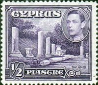 Cyprus 1938 SG 152a Salamis Small Marble Forum Fine Mint