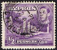 Cyprus 1938 SG 152a Salamis Small Marble Forum Fine Used