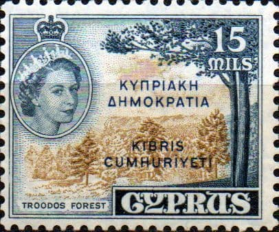 Stamps Cyprus 1955 New Currency SG 184 Fine Used Scott 179