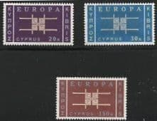 Cyprus 1963 Europa Set Second Issue Fine Mint