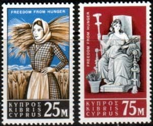 Cyprus 1963 Freedom From Hunger Set Fine Mint