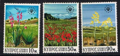 Cyprus 1970 Nature Conservation Year Set Fine Mint