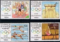 Cyprus 1984 Olympic Games Los Angeles Set Fine Mint