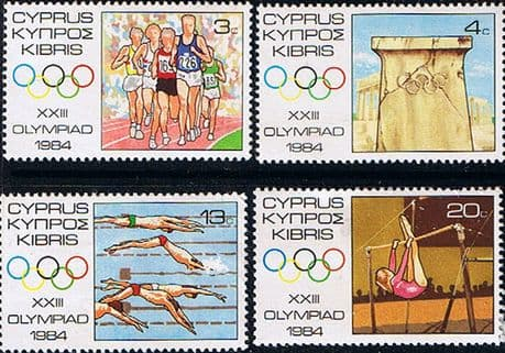 Stamps Cyprus 1968 Olympic Games Los Angeles Set Fine Mint