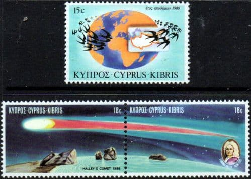 Cyprus 1986 Anniversaries and Events Set Fine Mint