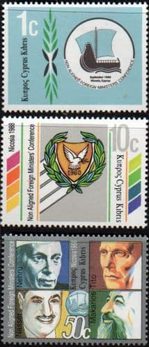 Cyprus 1988 Foreign Ministers Conference Set Fine Mint