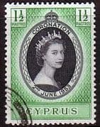 Cyprus Queen Elizabeth II 1953 Coronation Fine Used