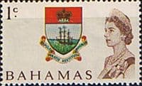 Bahamas 1967 Decimal SG 295a Coat of Arms Fine Mint