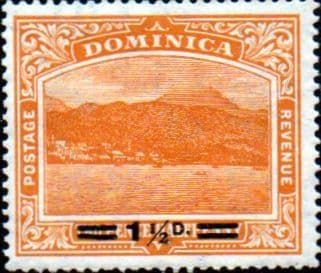 Dominica 1920 Roseau From The Sea Surcharged SG 60 Fine Mint