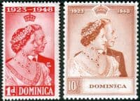 Dominica 1948 King George VI Royal Silver Wedding Set Fine Mint