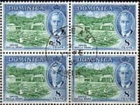 Dominica 1951 King George VI SG 127 Fine Used Block of 4