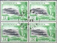 Dominica 1951 King George VI SG 128 Fine Used Block of 4
