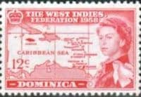 Dominica 1958 B W I Federation SG 161 Fine Mint