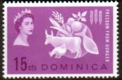 Dominica 1963 Freedom From Hunger Fine Mint