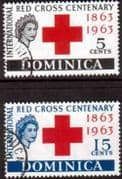 Dominica 1963 Red Cross Centenary Set Set Fine Used