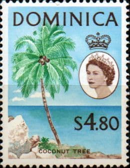 Dominica 1963 SG 178 Coconut Tree Mint