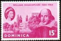 Dominica 1964 William Shakespeare Fine Mint