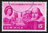 Dominica 1964 William Shakespeare Fine Used