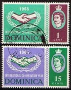 Dominica 1965 International Co-operation Year Set Fine Used