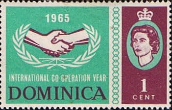 Stamp Stamps Dominica 1965 International Co-operation Year SG 185 Fine Used Scott 187