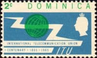 Dominica 1965 International Telecommunication Union SG 183 Fine Mint