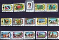 Dominica 1969 Definative Set on Glazed Paper Fine Mint