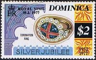 Dominica 1977 Royal Silver Wedding SG 594a Fine Mint