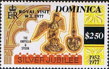 Stamps Dominica 1977 SG 595 Royal Silver Wedding Fine Mint Scott 553