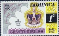 Dominica 1977 Royal Visit SG 563 Perf 12 x 11.5 Fine Mint