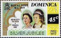 Dominica 1977 Royal Visit SG 593  Fine Mint