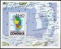 Dominica 1978 Independence Miniature Sheet Fine Mint
