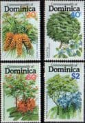 Dominica 1979 Flowering Trees Set Fine Mint