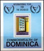 Dominica 1981 International Year for Disabled People Miniature Sheet Fine Mint
