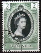 Dominica Queen Elizabeth II 1953 Coronation Fine Used