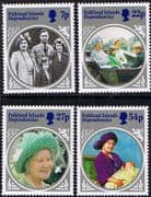 Falkland Island Dependencies 1985 Queen Mother Life and Times Set Fine Mint