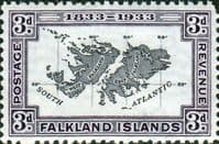 Falkland Islands 1933 SG 131 Map Fine Mint