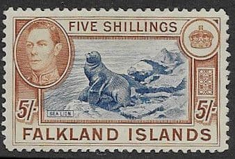 Penguin Stamps Falkland Islands 1938 SG 160 Fine Mint Scott 93